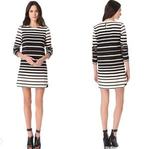 Tibi Variegated Stripe Knit Shift Dress